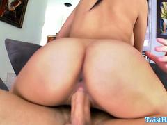 Beautiful babe cockriding after blowjob