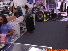 Pawnshop nurse facialized in the backroom pov