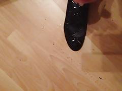 Huge cum inside Wife's Ballerinas