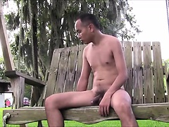 Naked on swing