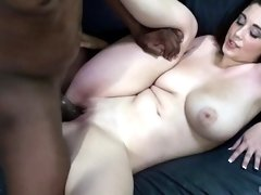 Adorable white girl with curvy body destroyed by a BBC