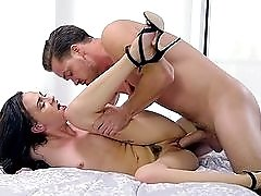Drilling a young slut in heels from behind
