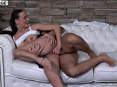 This playful woman likes riding dick more than anything