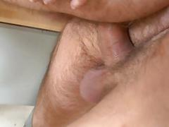 Stud is delighting hunk with an arousing oraljob
