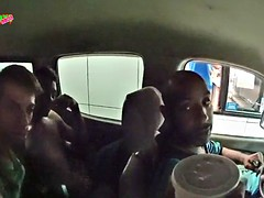 Guy gets a surprise BJ in the car