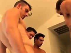 Male models Watch as these eight beautiful, nude boys blow a