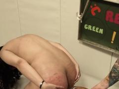 charming BDSM toilet slut fucked anally hard