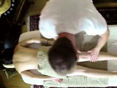 Nasty masseur copulate his customers
