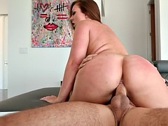 maddy o'reilly riding the hard dick in cowgirl pose