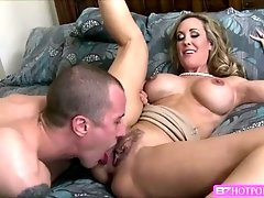 Big tits milf Brandi gets fuck by hunk Jessy for the first time