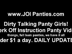 Teasing your hard prink with my silk panties JOI