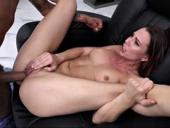 aidra fox gets her trimmed pussy penetrated by big black cock