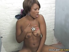 Imani Rose Tries Her First White Dick At A Gloryhole
