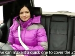 Kinky big boobs passenger pussy stuffed by the driver