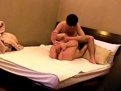 Cheating Oriental wife enjoys a deep fucking on hidden cam