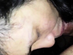 Mature Asian Wife Gives A Blowjob POV
