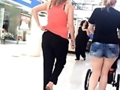 Small Milf in Jean Pants Mall Chasing (change)