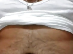 Sexy latin bear jerking off