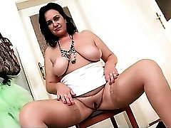 Her sexy mommy boobs are big and all natural
