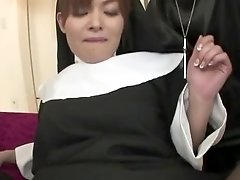 Nun Hitomi Kanou gives herself to god and the priests