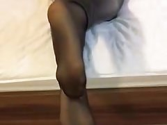 Nylon soles and wetlook leginggs