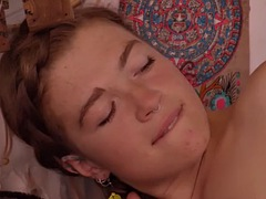 hairy lesbians juno and pixie fuck in van