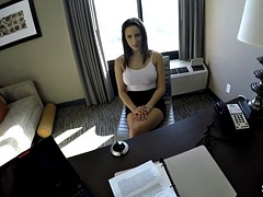 Spy pov - fucking coed with big swinger