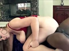 Curvy redhead slut Sierra Skye loves having hardcore interracial sex