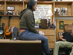 Latina Jessi flirts with a pawn dude