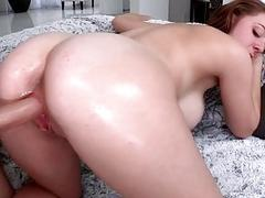 Sweet and busty bitch is totally in love with act