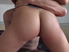 hot brunette sucks dick and gets fucked