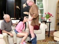Old men seduce nice Teen
