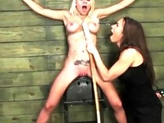 Mistress Fucks Teen in Bondage