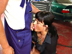 Horny mother will of young man fucked in the shop