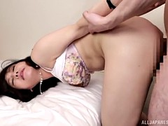 mateur japanese chick allows the guy to do to her whatever he wants