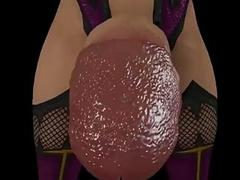Naughty animation of a shemale beauty