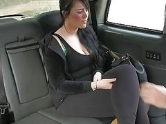 Passenger with big tits gets fucked hard