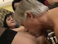 Sluts In A Threesome With An Old Guy