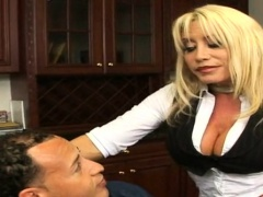 Stunning tanned gal with big titties takes a hard pounding