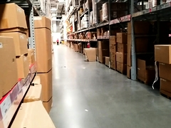 Sensual Oriental babe makes herself cum in the warehouse