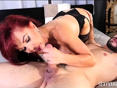 Dirty Latin MILF Worships Young Studs Cock With Sexy