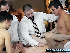 Mormon anointed with cum