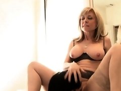Really horny blonde mother seduces sons friend nice fuck