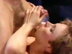 Shameless Vintage Blonde Yanks Thick Cum-Dripping Penis