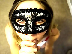 Screwing with stunning pummel friend in mask