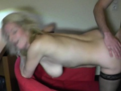 Amateur blowjob and creampie finish