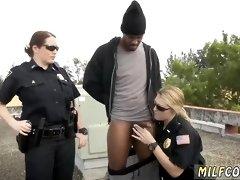 Amateur milf Cops Fuck a Black guy