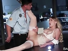 Security guard fucks gorgeous pornstar Natalia Starr