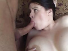A gorgeous thick babe rides on a fat thick cock