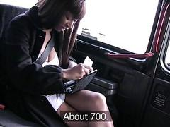 Huge boobs ebony drilled by fake driver